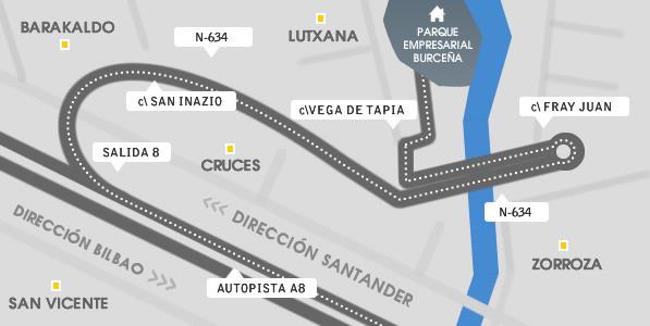 Mapa de Burtzeña
